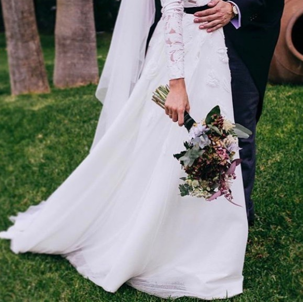 Mejores ramos de novia: ramo otoñal de Cártamo Flores