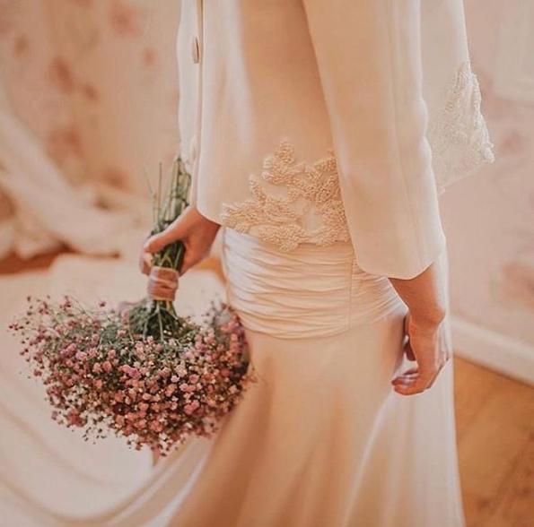 Mejores ramos de novia: Ramo de paniculatas rosas
